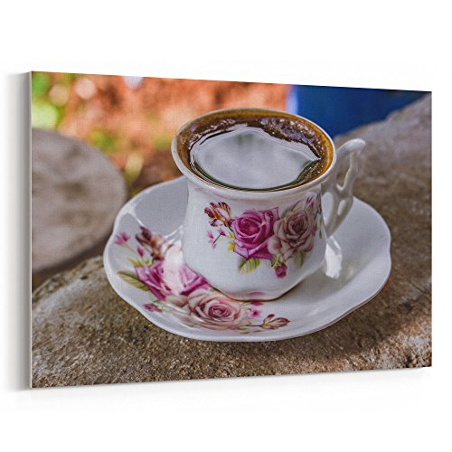 Westlake Art Coffee Cup - 12x18 Canvas Print Wall Art - Canvas Stretched Gallery Wrap Modern Picture Photography Artwork - Ready to Hang 12x18 Inch (A0D6-93F36)