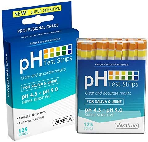 pH Test Strips 125ct Alkaline product image