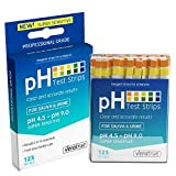 water acidity test - pH Test Strips 125ct - Tests Body pH Levels for Alkaline & Acid Levels Using Saliva and Urine. Track and Monitor Your pH Balance & A Healthy Diet, Get Accurate Results in Seconds. pH Scale 4.5-9.0
