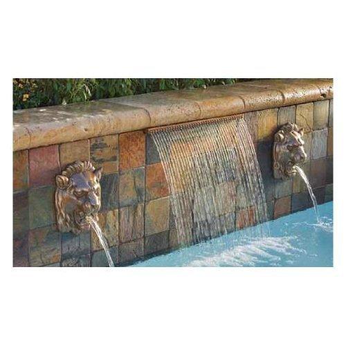 [Pentair 581102FSW 2 ft. Waterfall Sheet Standard, Bottom Feed with 1 in. Lip, White] (Fiberstars Mini)