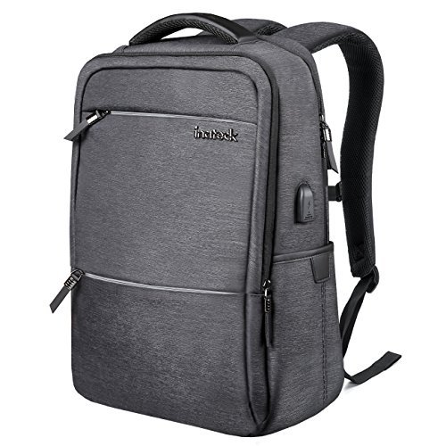 - Inateck Laptop Backpack with USB Charging Port, Anti-Theft Business Travel Backpack Fits Up to 15 Inch Laptops and 15.4