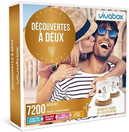Vivabox DECOUVERTES A DEUX 7200 activit/és de couple /… Coffret cadeau couple 1 duo de tasses