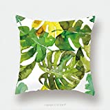 Custom Satin Pillowcase Protector Watercolor Palm Leaves Seamless Pattern 418190818 Pillow Case Covers Decorative