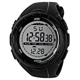 Bluelans Waterproof Fashion Men LCD Digital Stopwatch Chronograph Date Alarm Casual Sports Running Wrist Watch (Black)