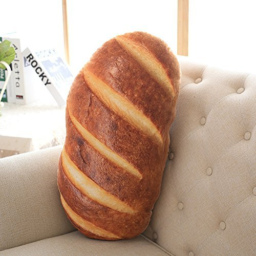 - 3D Simulation Butter Bread Pillow Soft Lumbar Back Cushion Plush Stuffed Toy for Home Decor Super Soft Plush Pillows Home Sofa Car Decoration Stuffed Doll Kids Children Gifts (60CM (23.6inch))