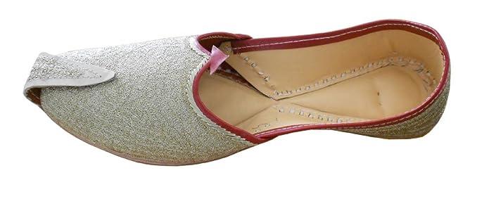 Kalra Creaciones Hombres Tradicionales de la Piel con Bordado Indio Novio Zapatos, Color Amarillo, Talla 42.5 EU: Amazon.es: Zapatos y complementos