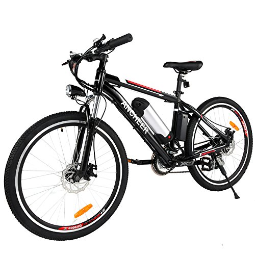 ANCHEER 26 inch Electric Mountain Bike 21 Speed 36V 8A Lithium Battery Assisted Bicycle for Adult (All Season)