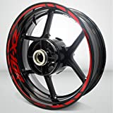 Kawasaki ZX10R Gloss Red Motorcycle Rim Wheel Decal Accessory Sticker