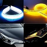 Best Daytime Running Led Strips - 2Pcs 23 Inches/60cm Headlight LED Strip Tube Flexible Review