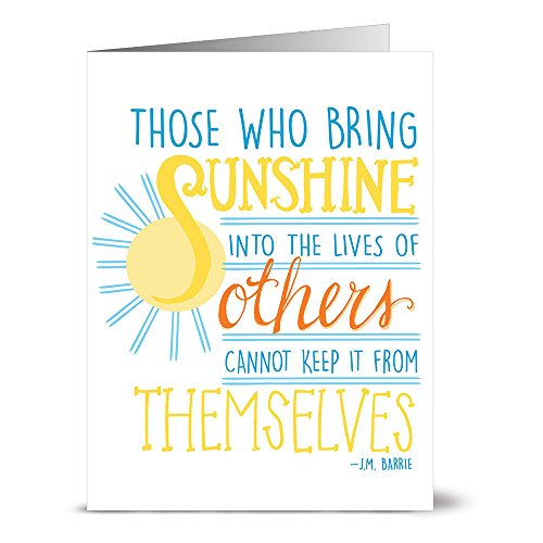 24 Note Cards - Bring Sunshine - Blank Cards - Yellow Envelopes ()