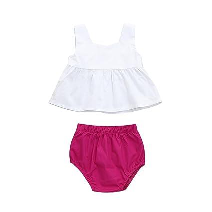Niña bebé vestido,Sonnena ❤ ❤ ❤ blanco correa camiseta sin manga