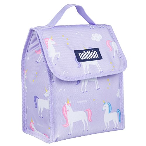 Wildkin Lunch Bag, Insulated, Moisture Resistant, Easy to Clean and Folds Flat Making Storage That Much Easier, Ages 3+, Perfect for Kids or On-The-Go Parents – Unicorn