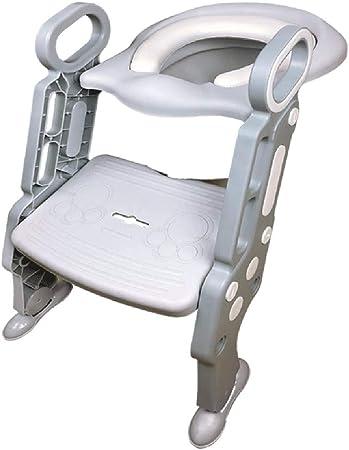 QFbp Escalón Plegable Orinal Baño Asiento, Escalera del Tocador Ayuda Crecimiento del Niño WC Inodoro Gris Rosa: Amazon.es: Hogar