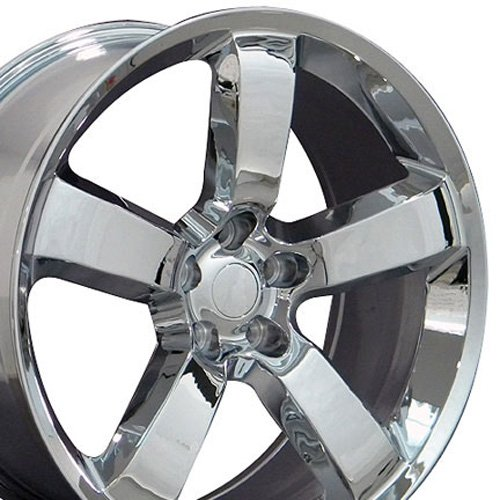 Rims Charger Chrome Wheels Dodge (OE Wheels 20 Inch Fits Dodge Challenger Charger SRT8 Magnum Chrysler 300 SRT8 DG04 Chrome 20x9 Rim)