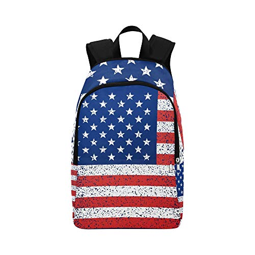 YPink American Independence Day Background with Flag Casual Daypack Travel Bag College School Backpack for Mens and Women