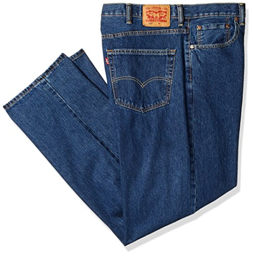 Levi's Men's Big and Tall 550 Relaxed-fit Jean, Dark Stonewash, 56W x 28L ()
