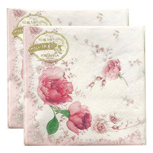 Frontia Paper Napkins Floral and Flower 13x13