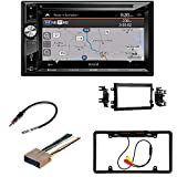 Jensen VX7023 A/V Receiver w/DVD | Built-in NAV | Built-in Bluetooth with Dash kit Fits Ford F-150 2004-2006 Double DIN Stereo Harness Radio Install Dash Kit/Car License Plate Rearview Camera