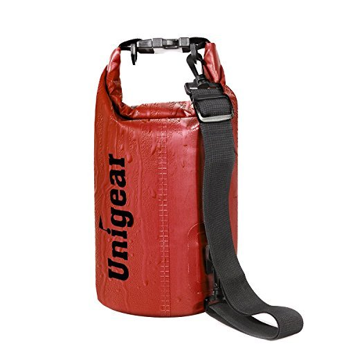 Unigear Dry Bag Sack, Waterproof Floating Dry Gear Bags for Boating, Kayaking, Fishing, Rafting, Swimming, Camping and Snowboarding (Red, 5L)