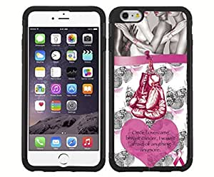 Pink Breast Cancer Awareness Rubber Snap on Phone Case with Quote (iPhone 6)