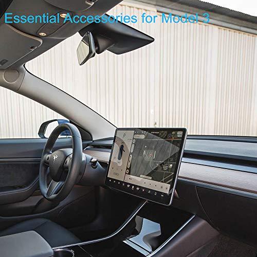 Clear Tesla Model 3 Screen Protector CA007 BASENOR 9H Hardness HD Tempered Glass Film Model 3 Car Navigation Screen Protector