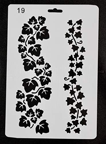 Ivy Stencil Small and Large Pattern for Painting On Wood and Wall 10X7 inches