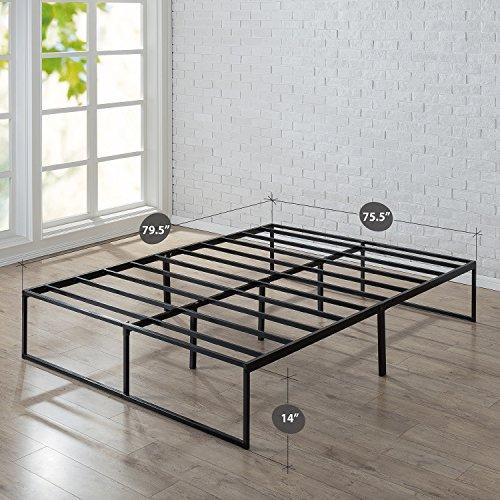 Zinus 14 Inch Platforma Bed Frame, Mattress Foundation, No Box Spring needed, Steel Slat Support, King by Zinus (Image #1)