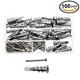 Waykino 100PCS Best Quality Zinc Self-Drilling Drywall and Hollow-Wall Anchor with Screw Kit