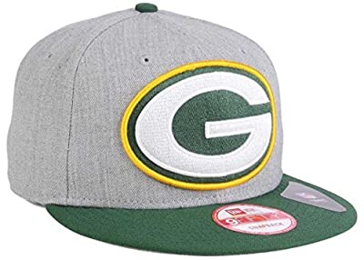 100% Authentic, NWT, New Era NFL Green Bay Packers Heather Gray / Forest Green 9Fifty SnapBack Hat, Cap
