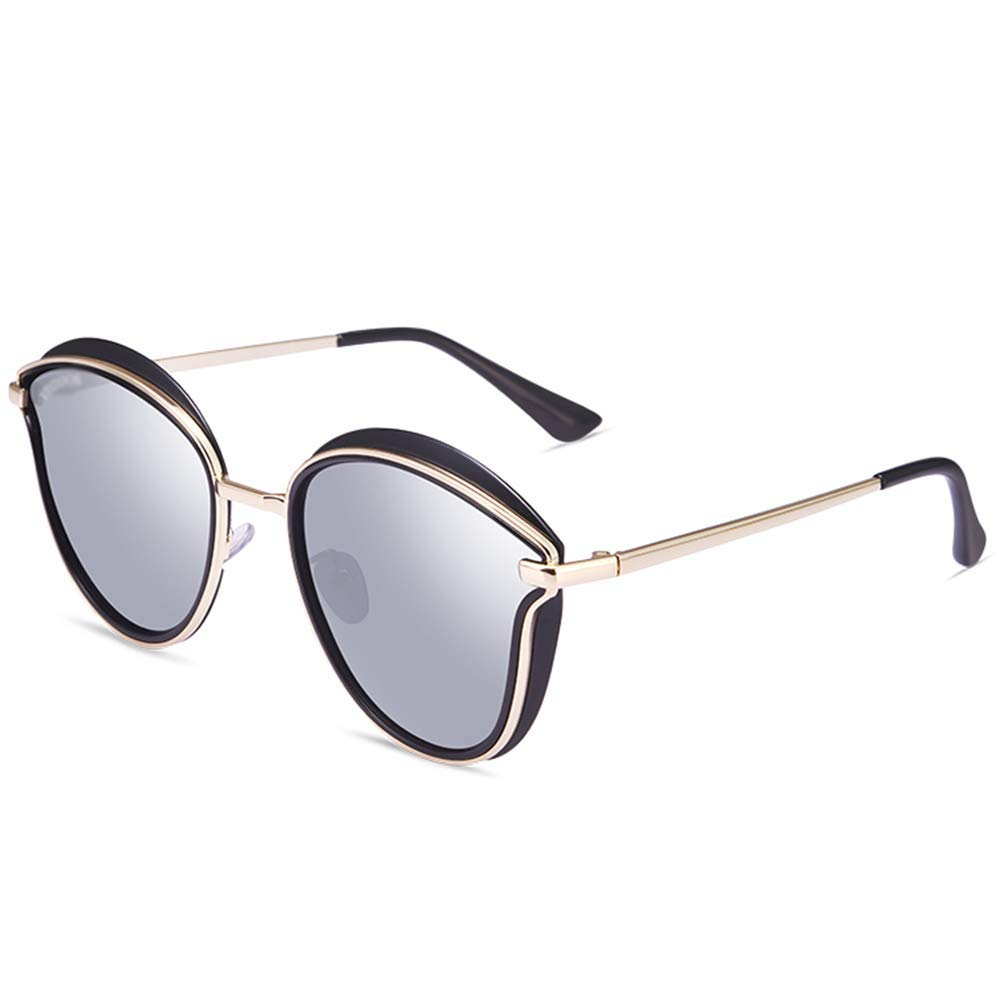 XINGZHE サングラス - 偏光、UV耐性、ファッション野生、ショッピングストリートシューティングを運転する女性、野外活動、6色から選択する サングラス (色 : Black Frame Mirror Mercury)  Black Frame Mirror Mercury B07S4K9WN9