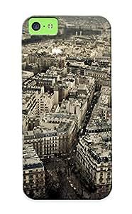 Design For Iphone 5c Premium Tpu Case Cover Paris Cityscapes Travel Protective Case