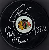 "Andrew Shaw ""1st Shot 1st Goal 1/5/12"" Autographed Signed Chicago Blackhawks Hockey Puck"