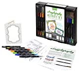 Crayola Beginner Hand Lettering Kit with Tutorials, Easier Than Calligraphy, 45Piece, Gift