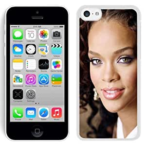 Beautiful Designed Cover Case With Rihanna Girl Haircut Makeup Look (2) For iPhone 5C Phone Case