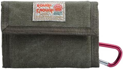 Rough Enough ® Canvas Classic Casual Wallet Purse (Army Green)