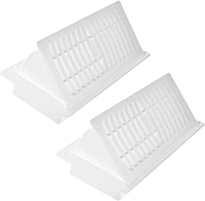 """Hartford Ventilation Pop Up Floor Vent Register - 4"""" x 10""""(Duct Opening) - Air Vent Deflector for Home Heat/AC - Extender for Under Furniture, Couch, Cabinetry - Floor or Ceiling Use (2, White)"""