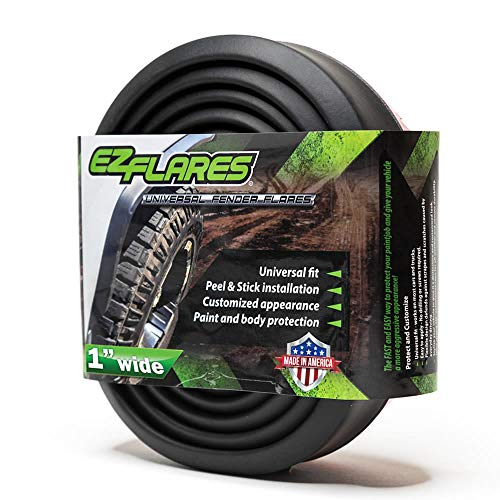 The Original EZ Flares Universal Flexible Foam Rubber Fender Flares Trim 1-Inch