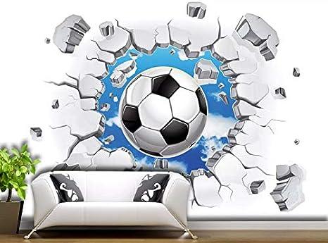 Papel Pintado Pared 3D Fotomurales Cielo A Través De La De Futbol Murales 3D Papel Tapiz Decorativos Moderno Wallpaper,250cmX175cm: Amazon.es: Bricolaje y herramientas