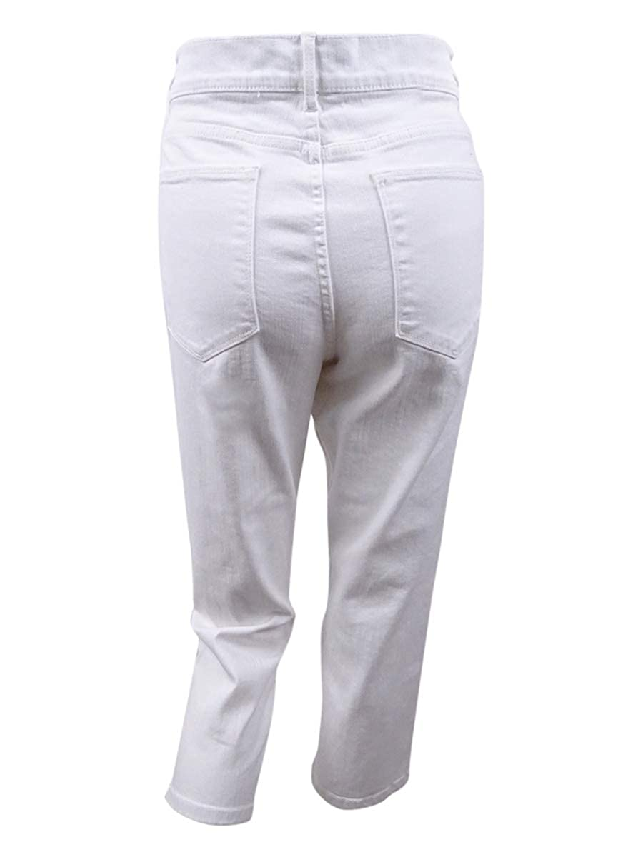 Tommy Hilfiger Womens Straight-Leg Capri Jeans