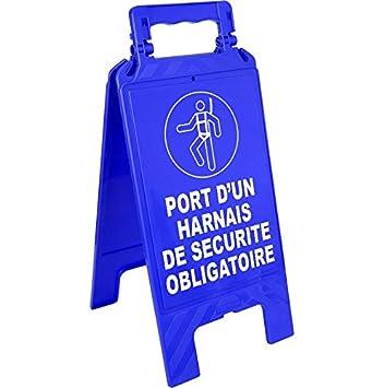 Novap - Caballete de tráfico azul - Puerto de un arnés de ...