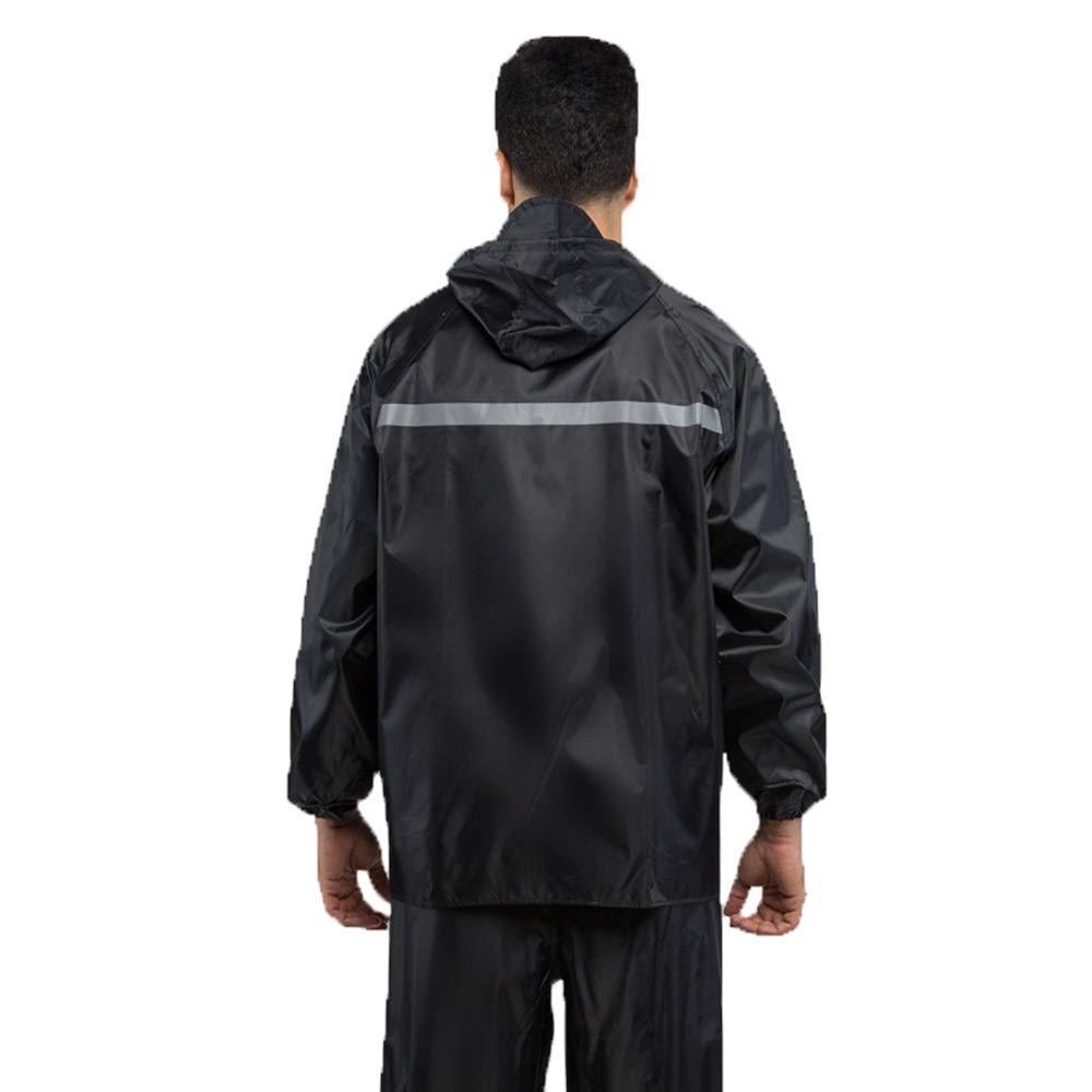 Rain Gear Outdoor Functional Portable Rainproof Suit Adult Outdoor Split Labor Insurance Single Riding Raincoat Motorcycle Electric Car Raincoat Rain Pants (Size : XL) by Zhaolan-Rain Gear