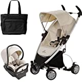 Quinny Zapp Xtra Folding Seat Stroller Travel system with diaper bag and car seat - Natural Mavis