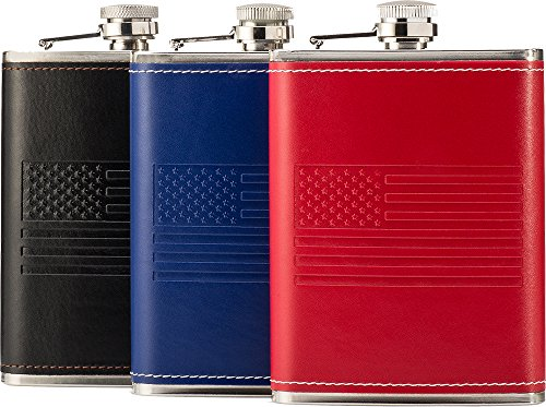 OUTZIE Slim Hip Flask with Soft Touch Cover and Funnel, 8-Ou