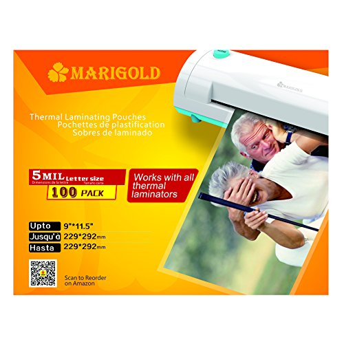 Marigold 205 Count Pack 5 Mil Letter Size  9 X11 5   Thermal Laminating Pouches Laminator Film Sheets For Laminator Machine  Tlp5ltr