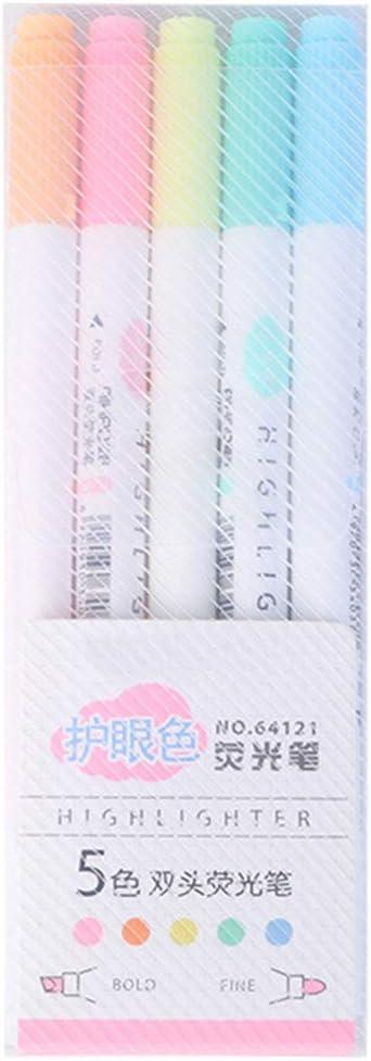 fluoreszierende Milkliner Schreibwaren Geschenk doppelseitig 5 bunte Bonbonfarben