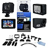 ActionPro-X Stealth Edition HD TOUCH SCREEN Wifi Sports Camera - Touch Screen Technology – Wifi Enabled - HDMI – 12MP - Waterproof - Wide Angle Lens - 20 Accessories Included