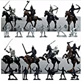 FomCcu 28Pcs Soldiers Figures Knights Horses Warrior Medieval Toy Play Set Mini Model Kids Toys