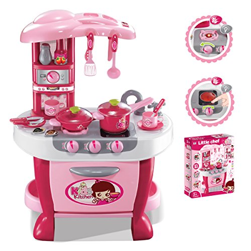PowerTRC® Deluxe Kitchen Appliance Cooking Play Set with Li