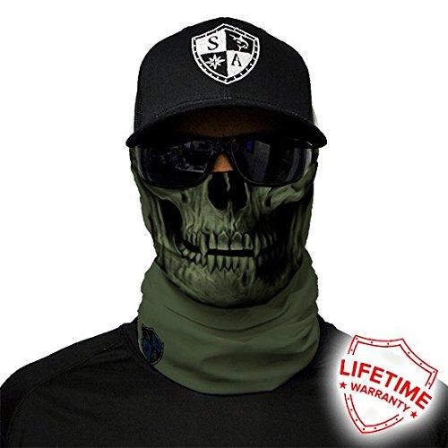 Salt Armour Tactical Face Shield | OD Green Skull