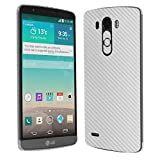 Skinomi TechSkin - LG G3 Screen Protector + Silver Carbon Fiber Full Body Skin Protector / Front & Back Premium HD Clear Film / Ultra Invisible and Anti-Bubble Shield